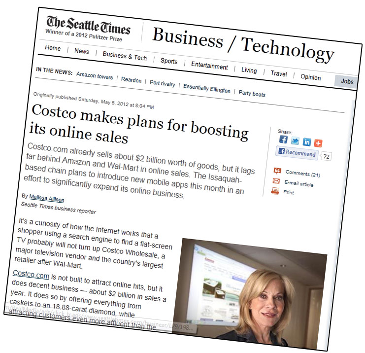 Costco Com Online: Costco.com SEO Lacking, But They're One Of Many