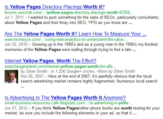 Are Yellow Pages Worth It?