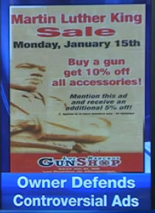 Martin Luther King Jr Day gun advertisement