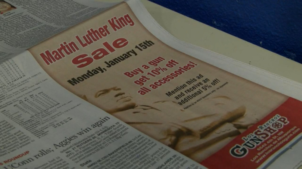 Gun Store MLK Day Ad For Discounts