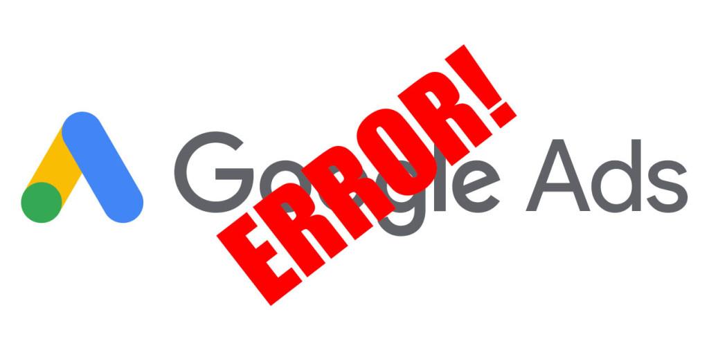 Google Ads Error